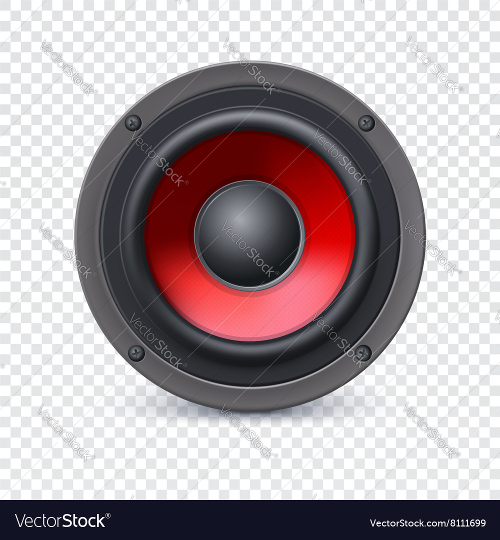 speaker on transparent royalty free vector image vectorstock