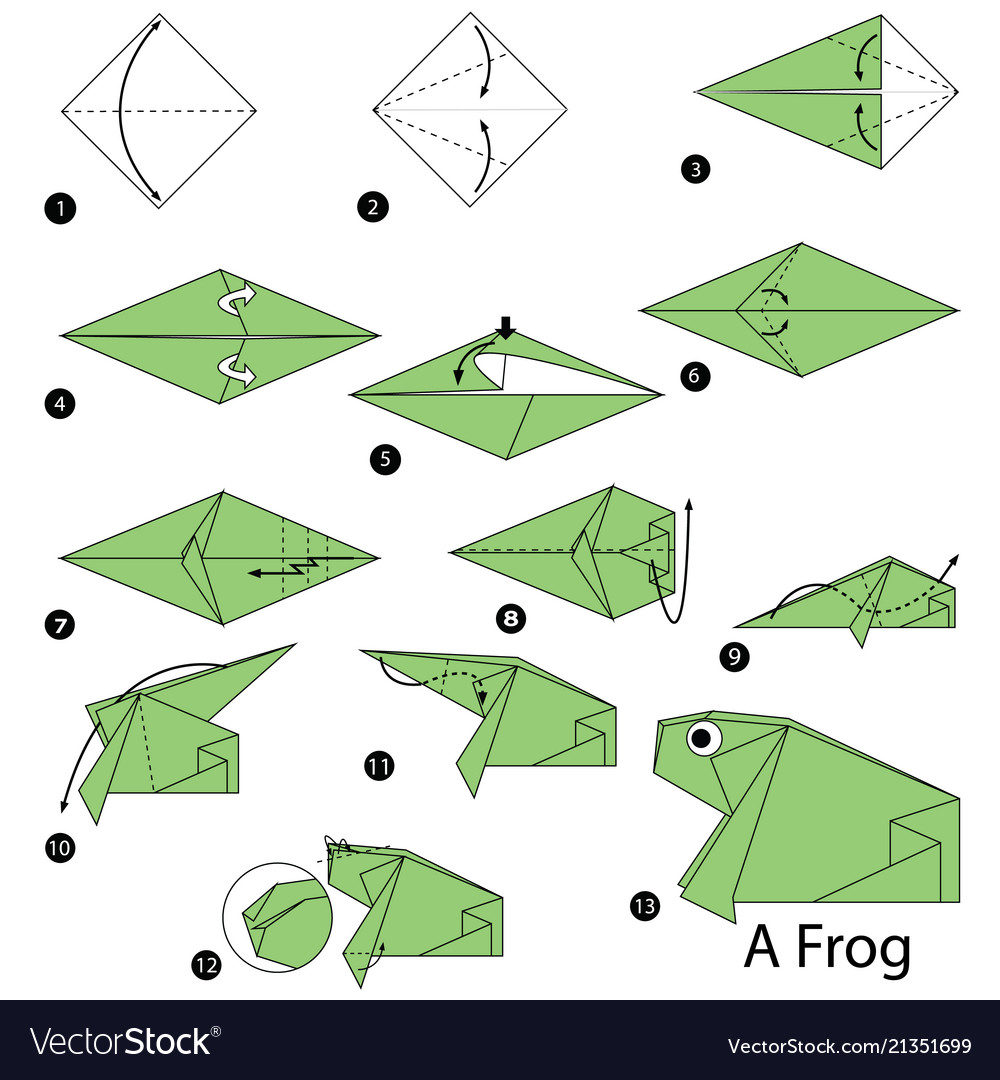 Step By Step Instructions How To Make Origami A Whale. Stock ...   1080x1000