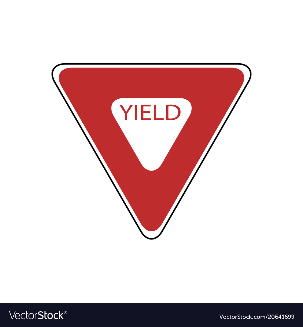 Usa traffic road signs slow down completely stop vector image