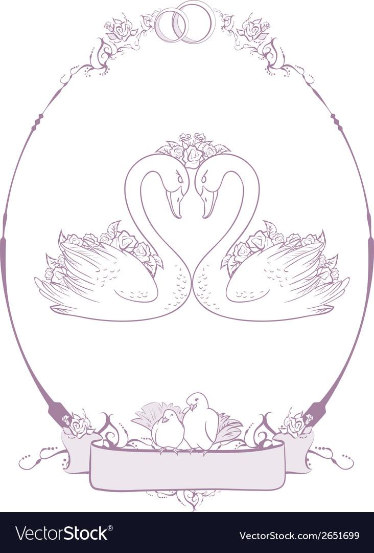 Wedding Couple of swans