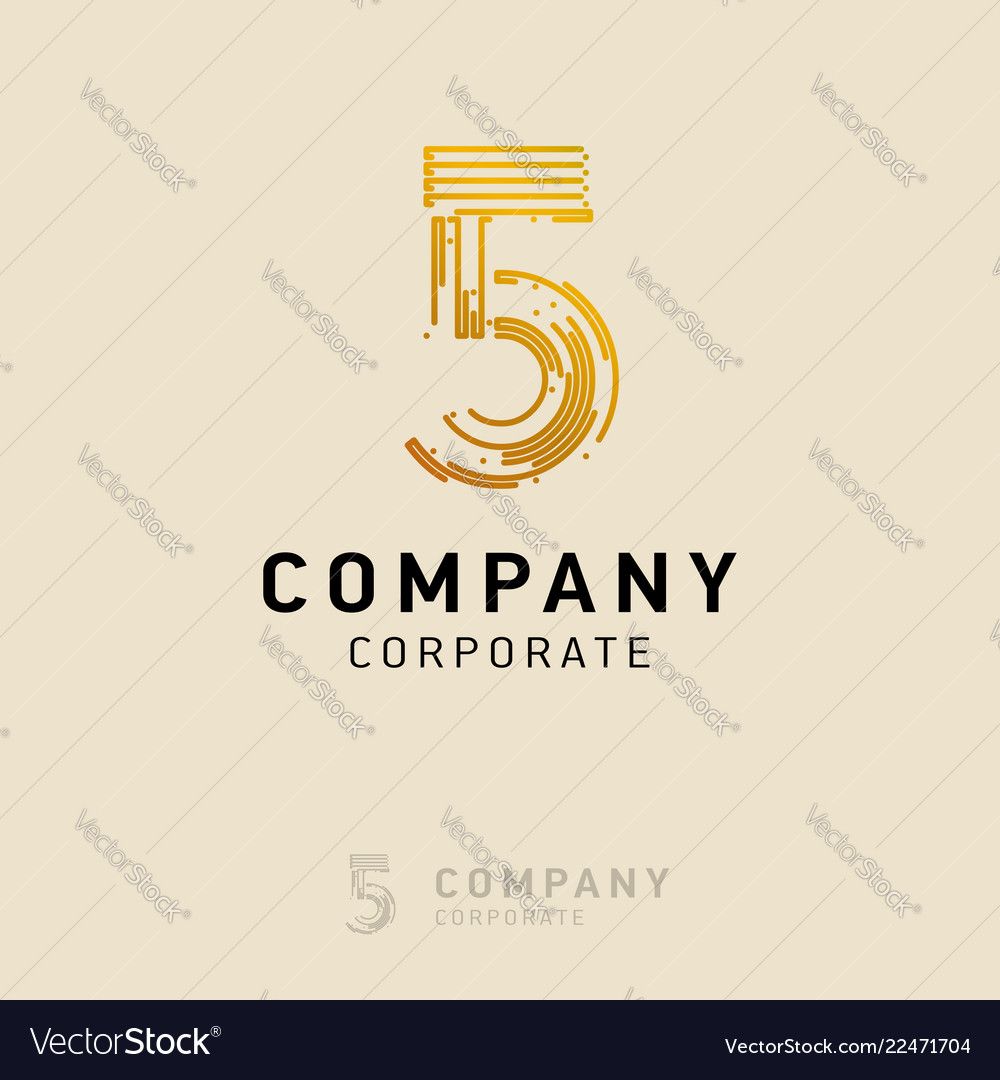 5 company logo design with white background