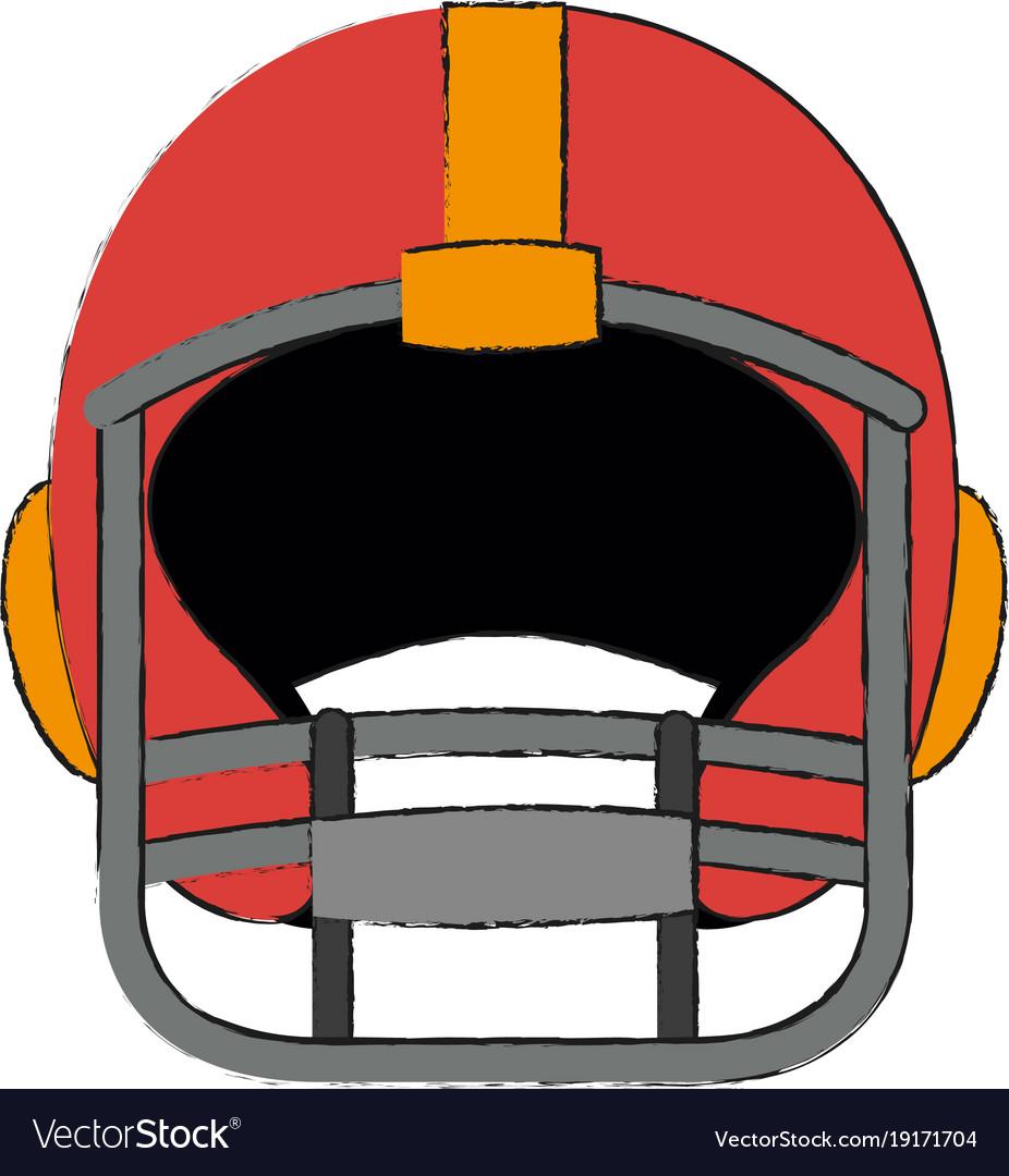 american football helmet royalty free vector image rh vectorstock com