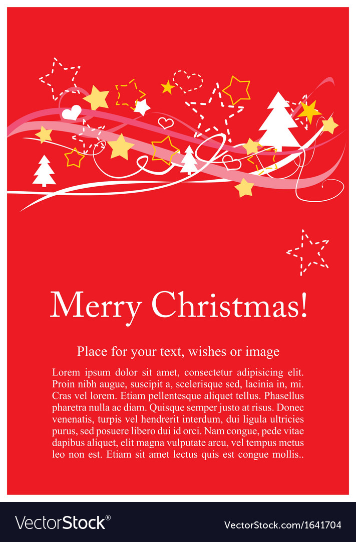 Christmas Card Or Invitation For Party With Wishes