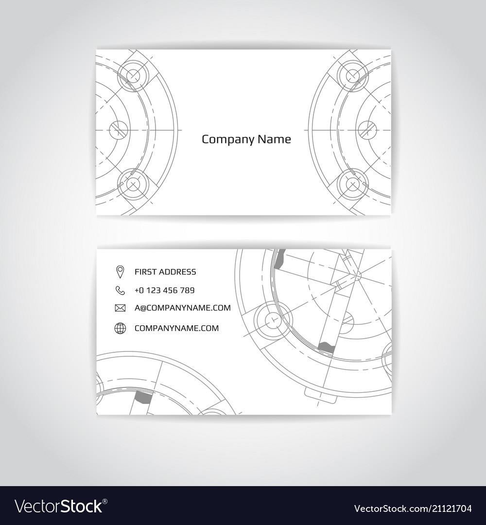 Engineering business card engineering drawings