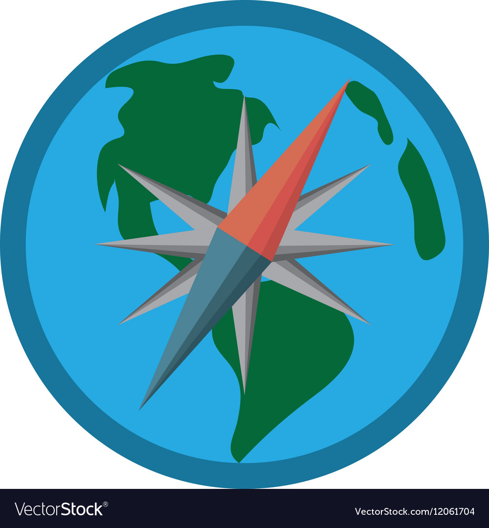 Globe earth map compass navigation