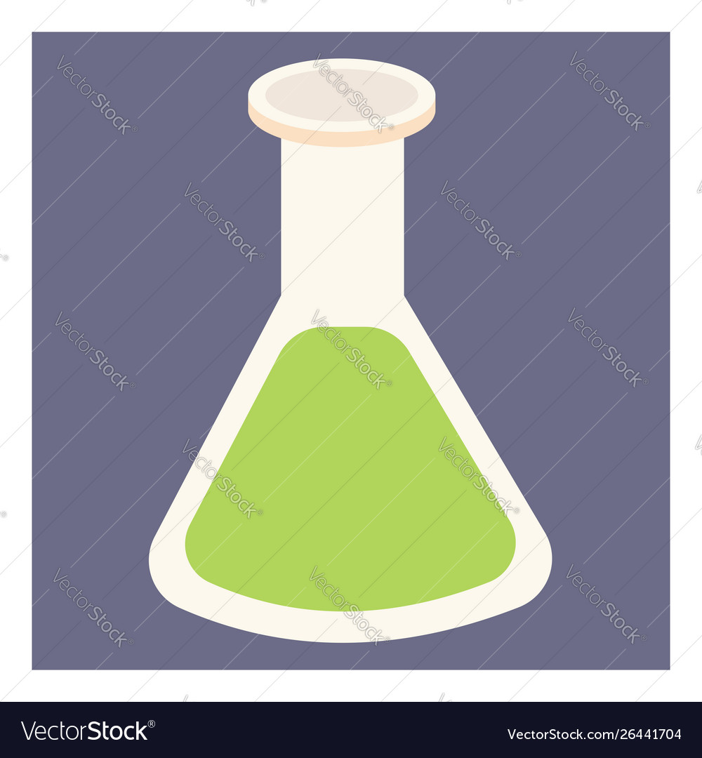 Green chemical on white background