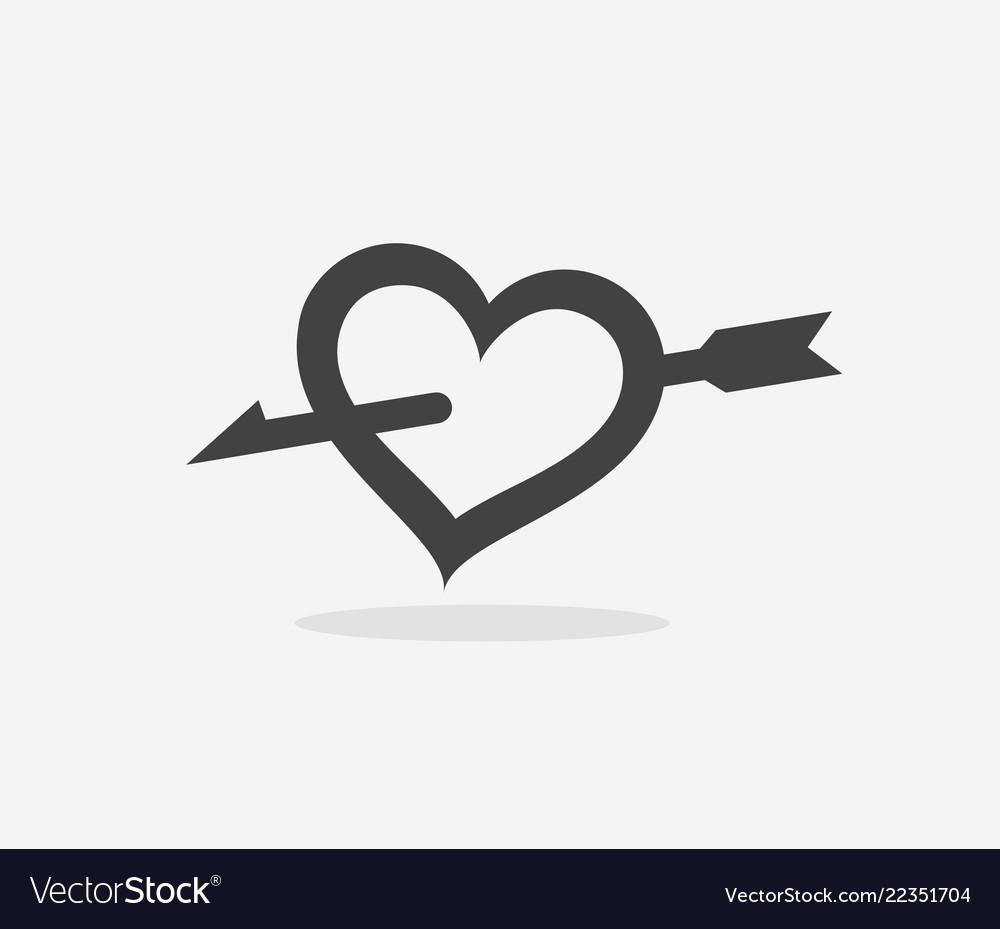 Heart pierced with an arrow