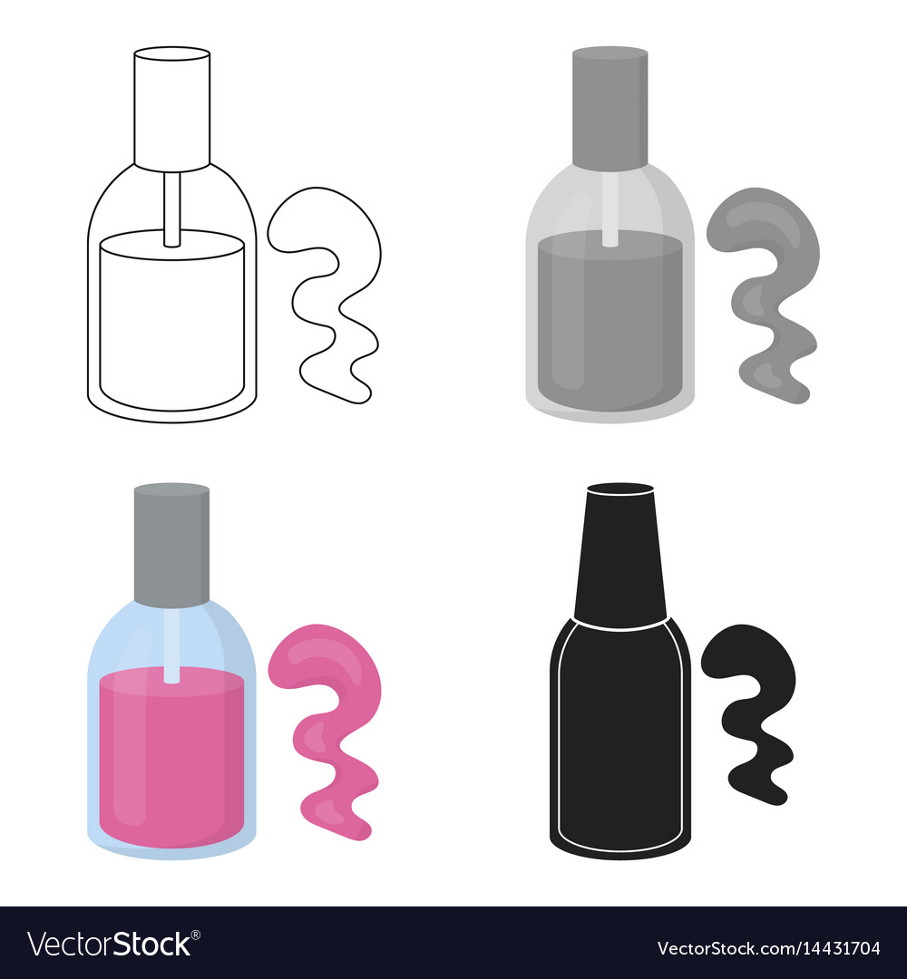 Nail polish icon in cartoon style isolated on Vector Image