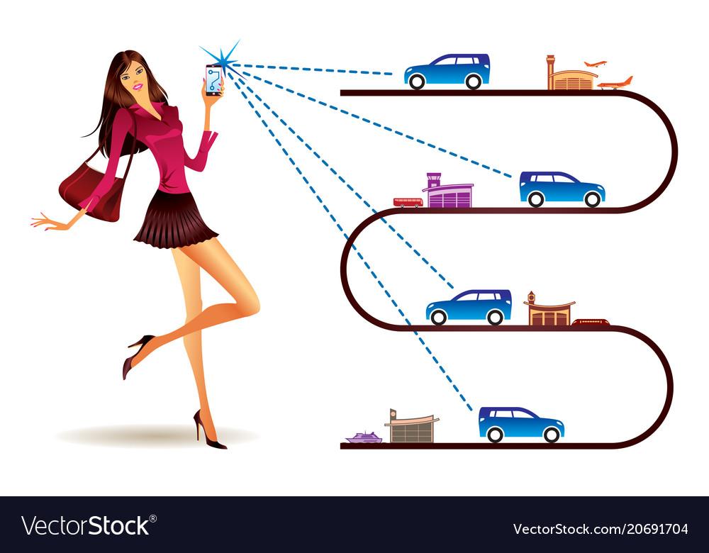 Networks for shared transportation vector image