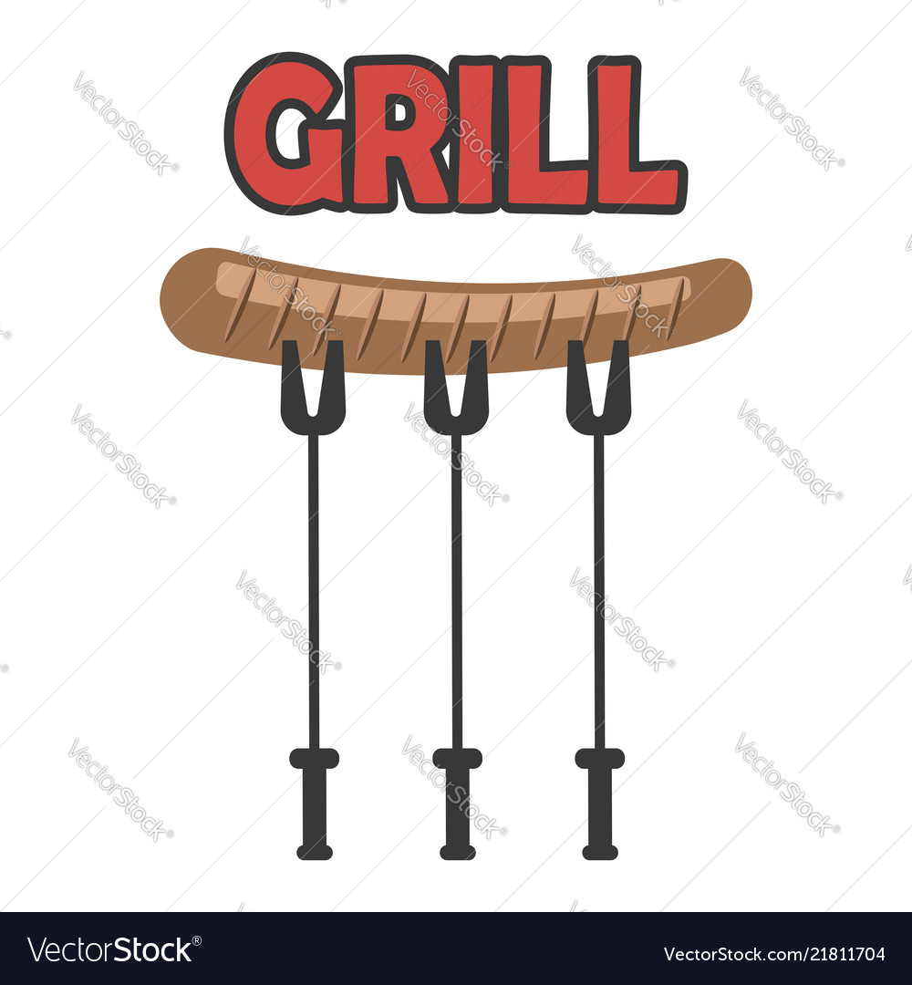 Single grill sausage icon