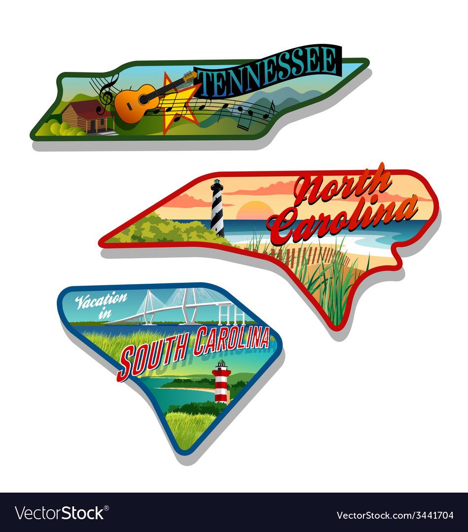 Tennessee north carolina south carolina designs
