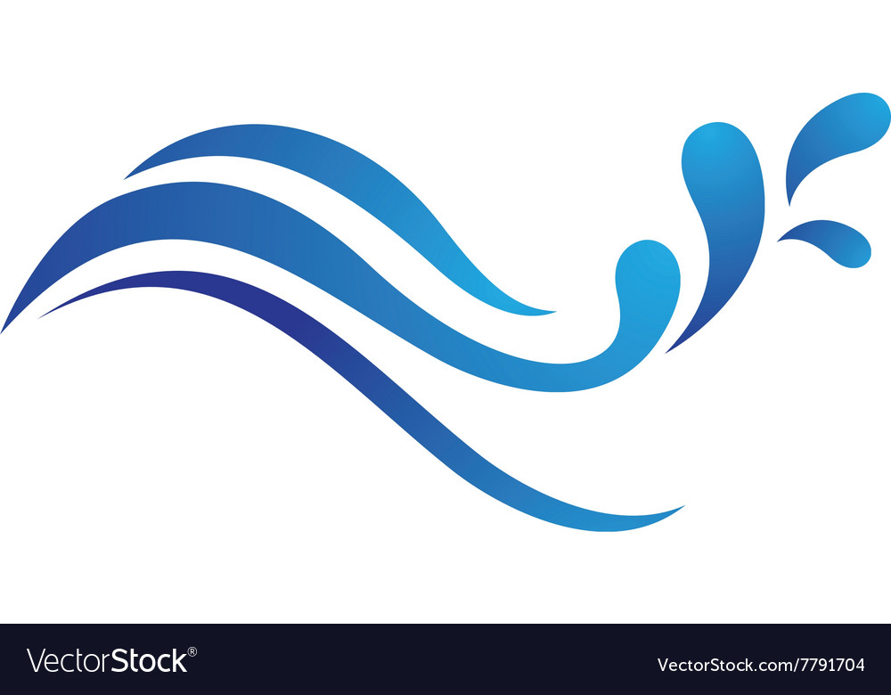 water wave logo template royalty free vector image rh vectorstock com wave logon wave logo design inspiration