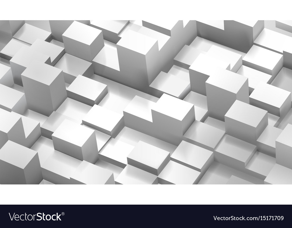 Abstract background of cubes and parallelepipeds