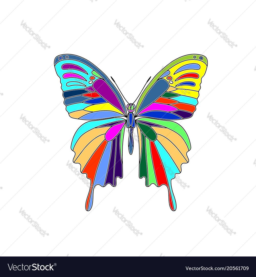 Abstract polygonal butterfly