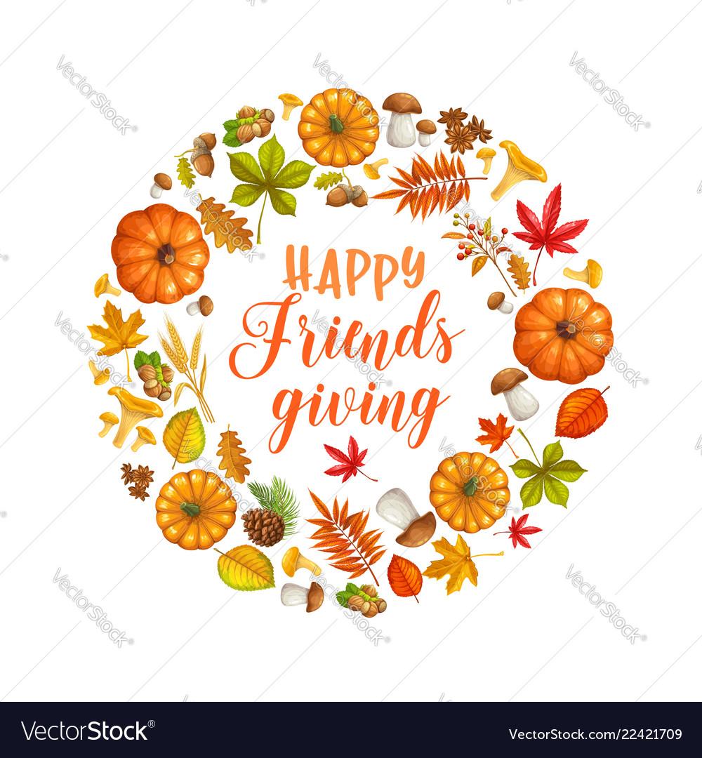 Happy friendsgiving card