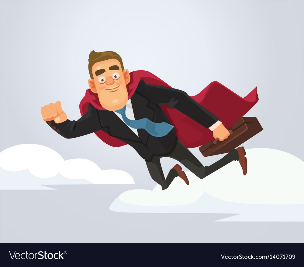 Happy smiling successful businessman office worker vector image
