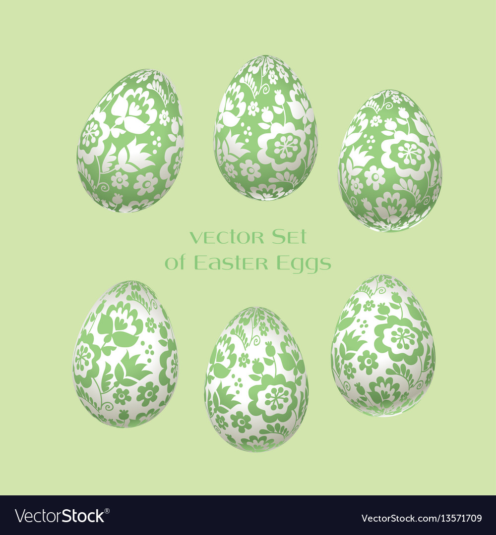 Pale green easter egg decoration floral