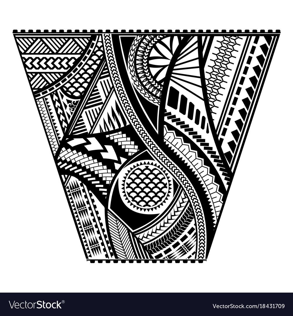 Polynesian Tattoo Style Sleeve Design Royalty Free Vector
