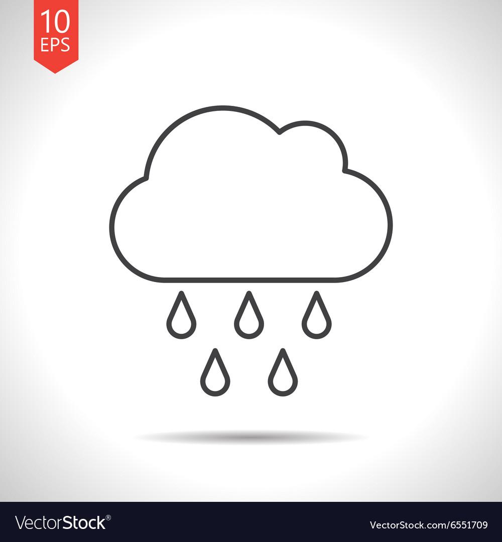 Rain icon vector image