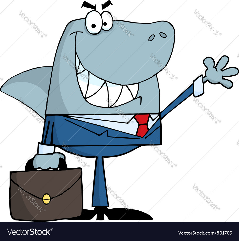 Smiled business shark vector image