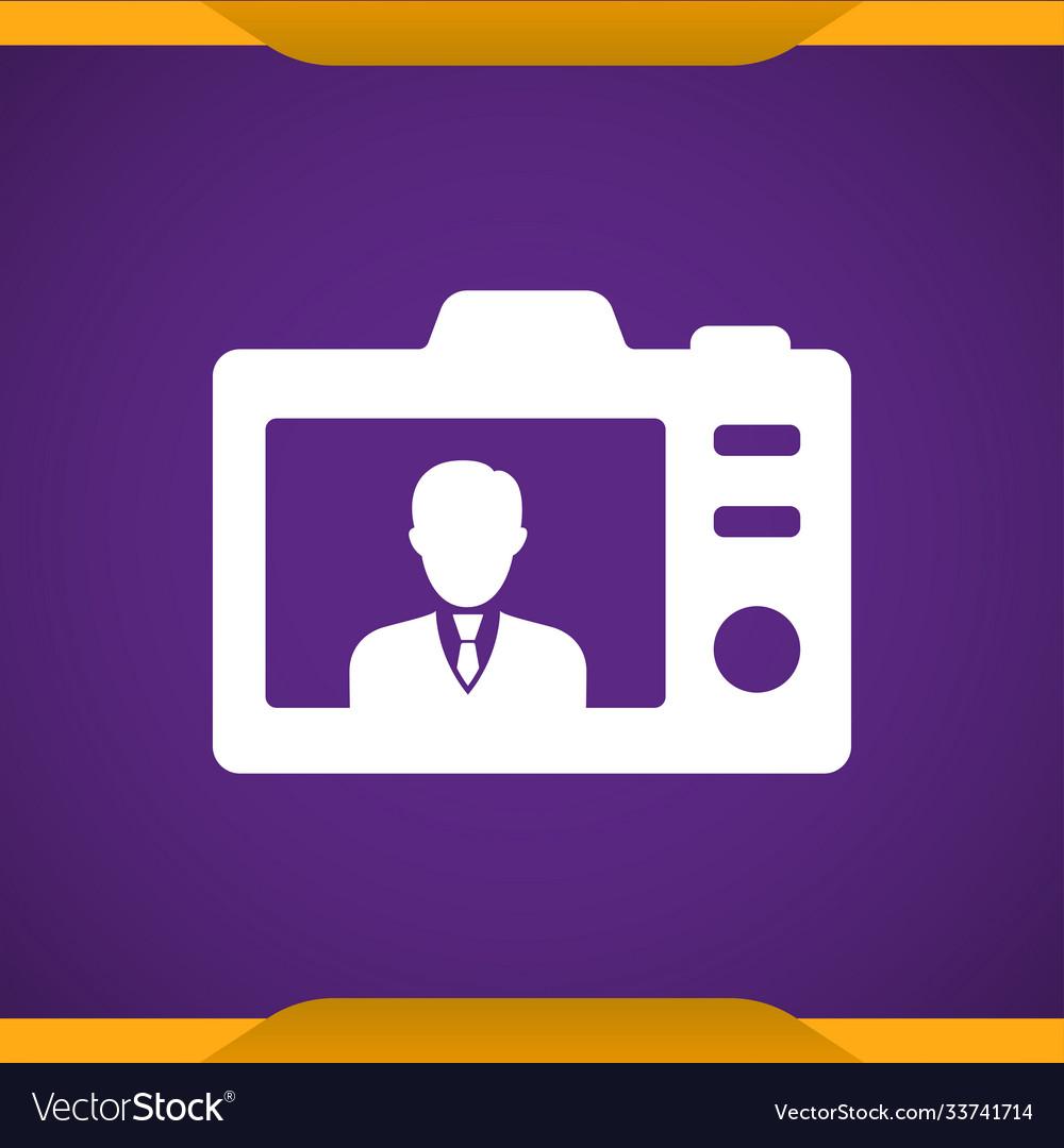 Back photo camera icon