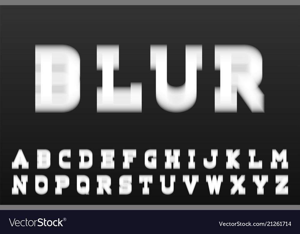 Blur font - creative english alphabet