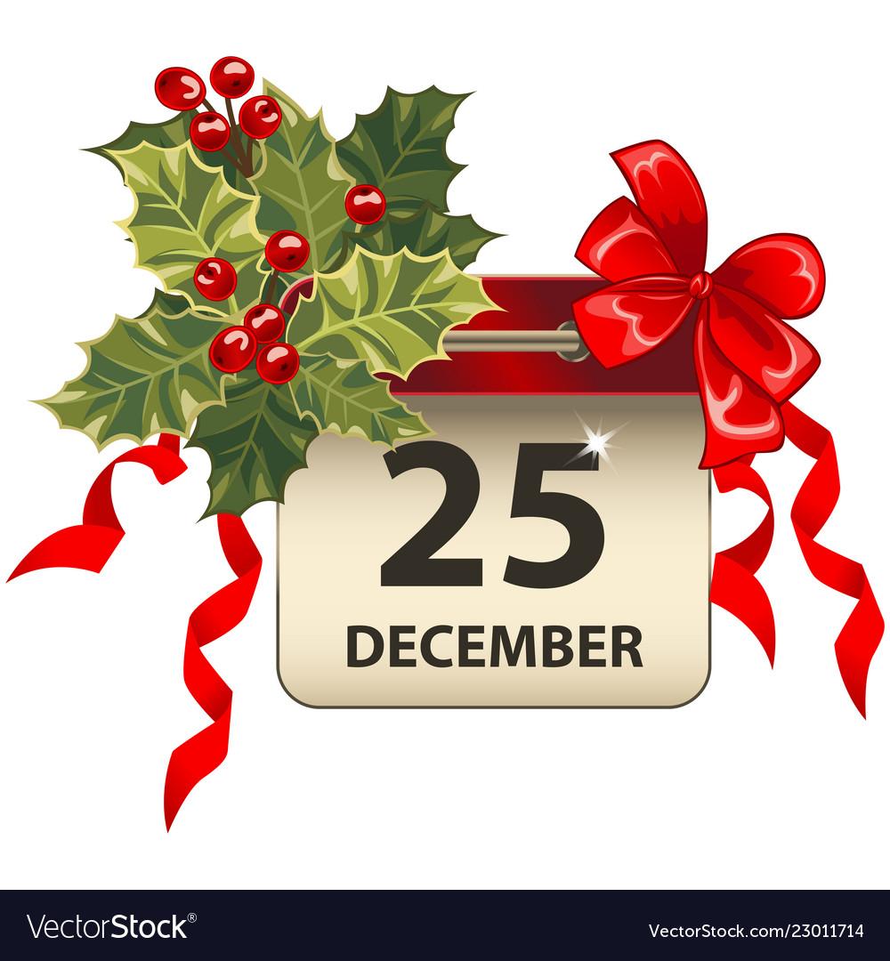Christmas calendar with celebration symbols