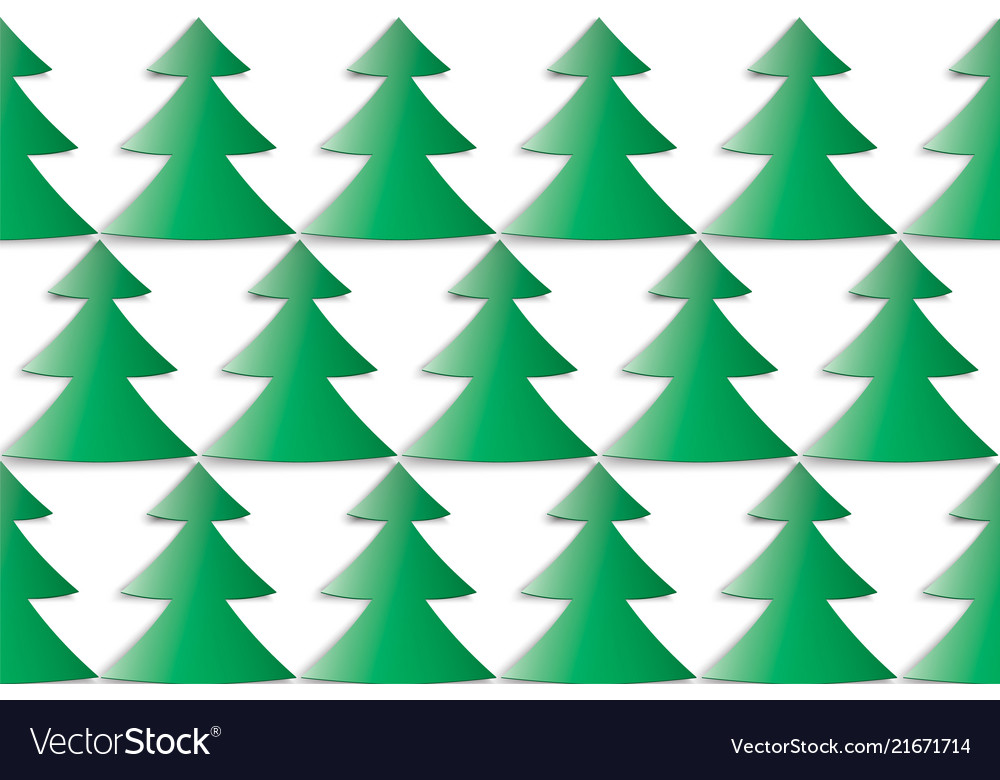 Christmas tree in staggered order on white