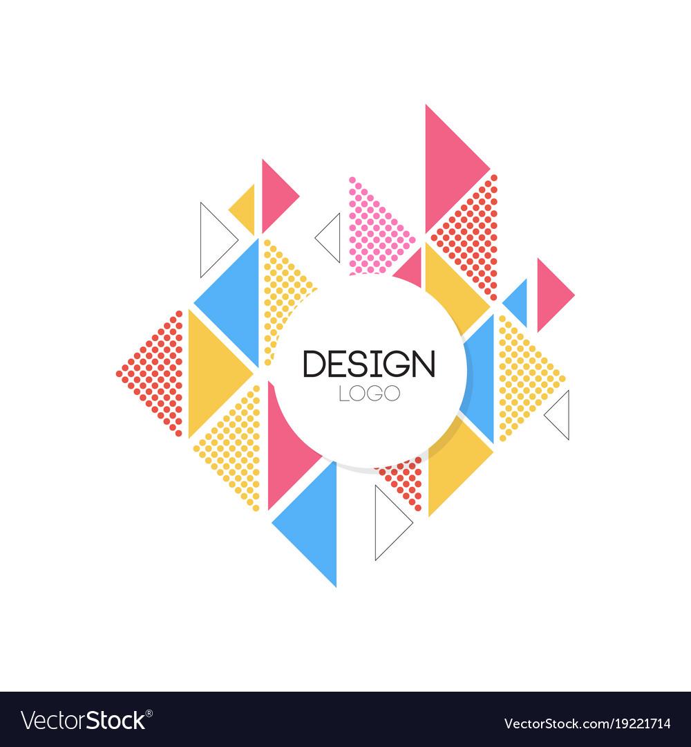 Design logo template geometric elements for brand