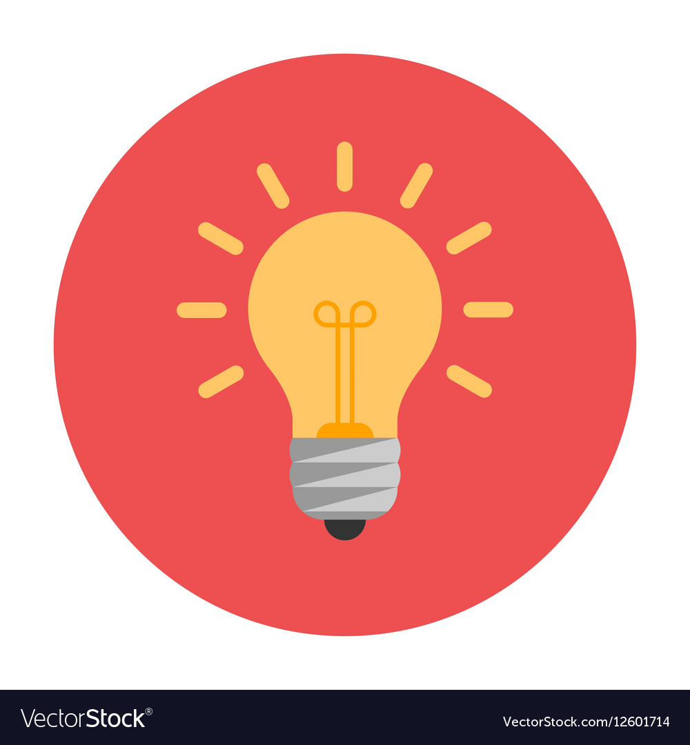 Lightbulb flat icon