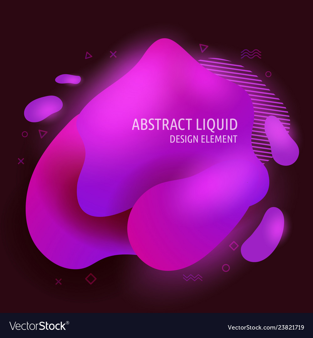 Abstract modern flowing liquid shapes design