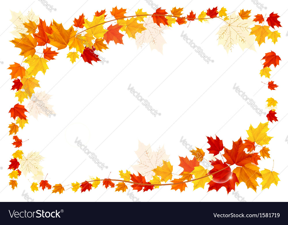 Autumn frame with colorful leaves