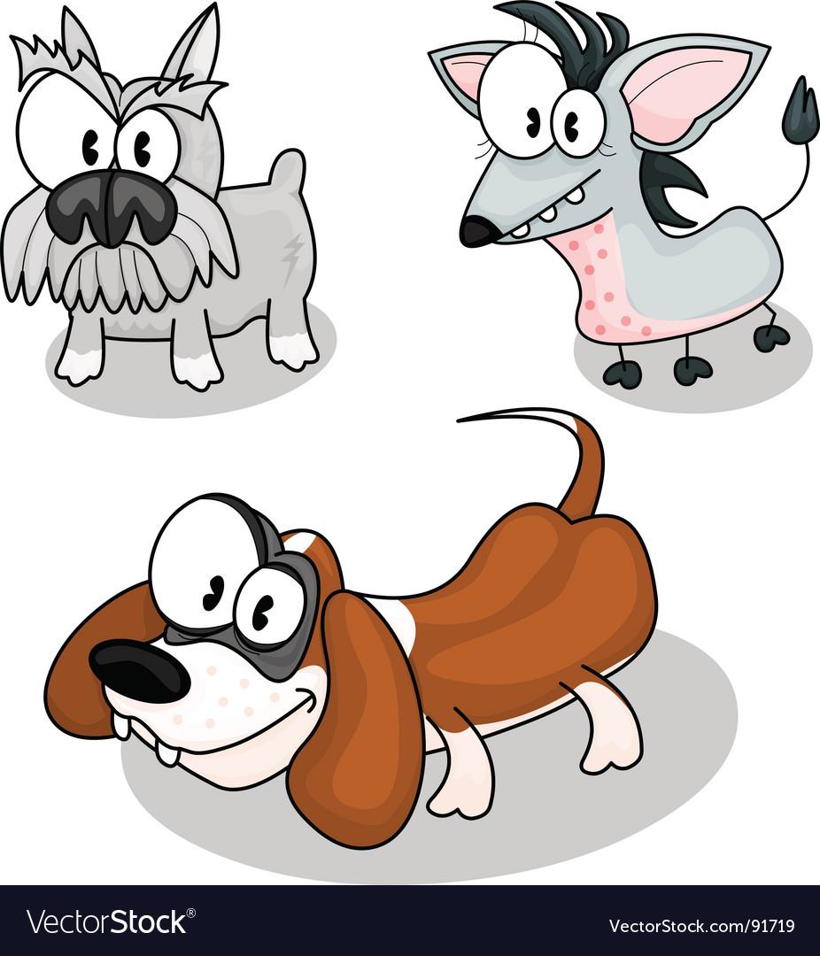 cartoon dogs royalty free vector image vectorstock