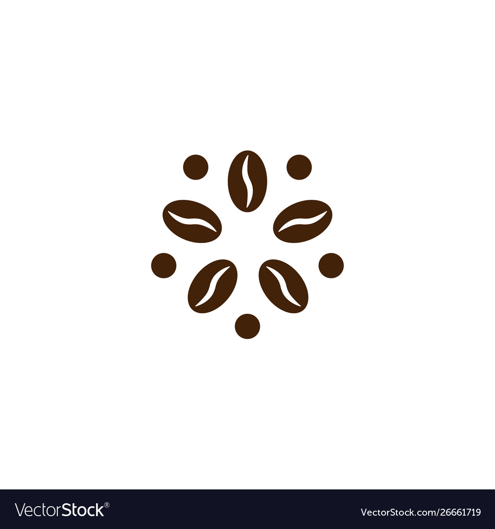 Coffee logo modern concept coffee bean icon