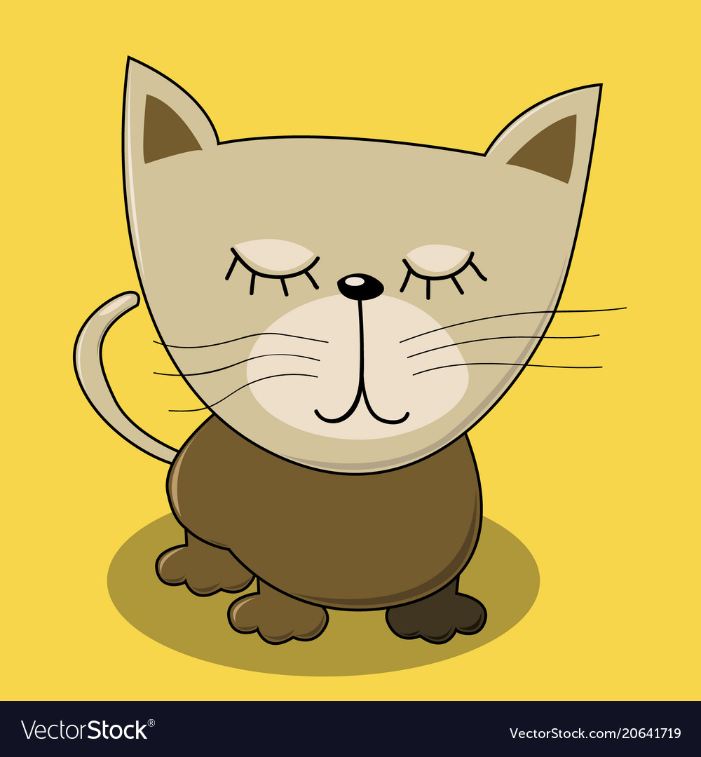 Cute cat for kids print