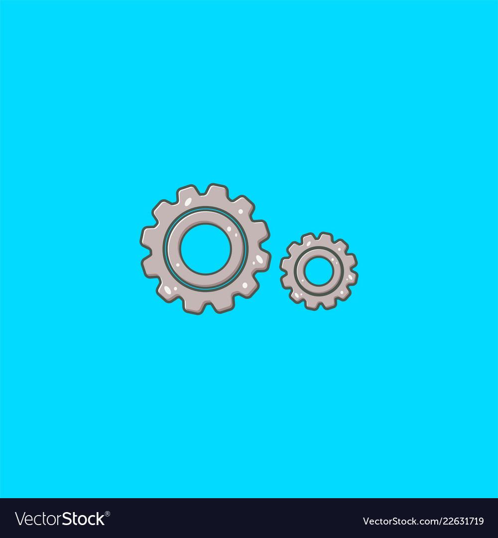 Double gear logo design and symbol dan icon
