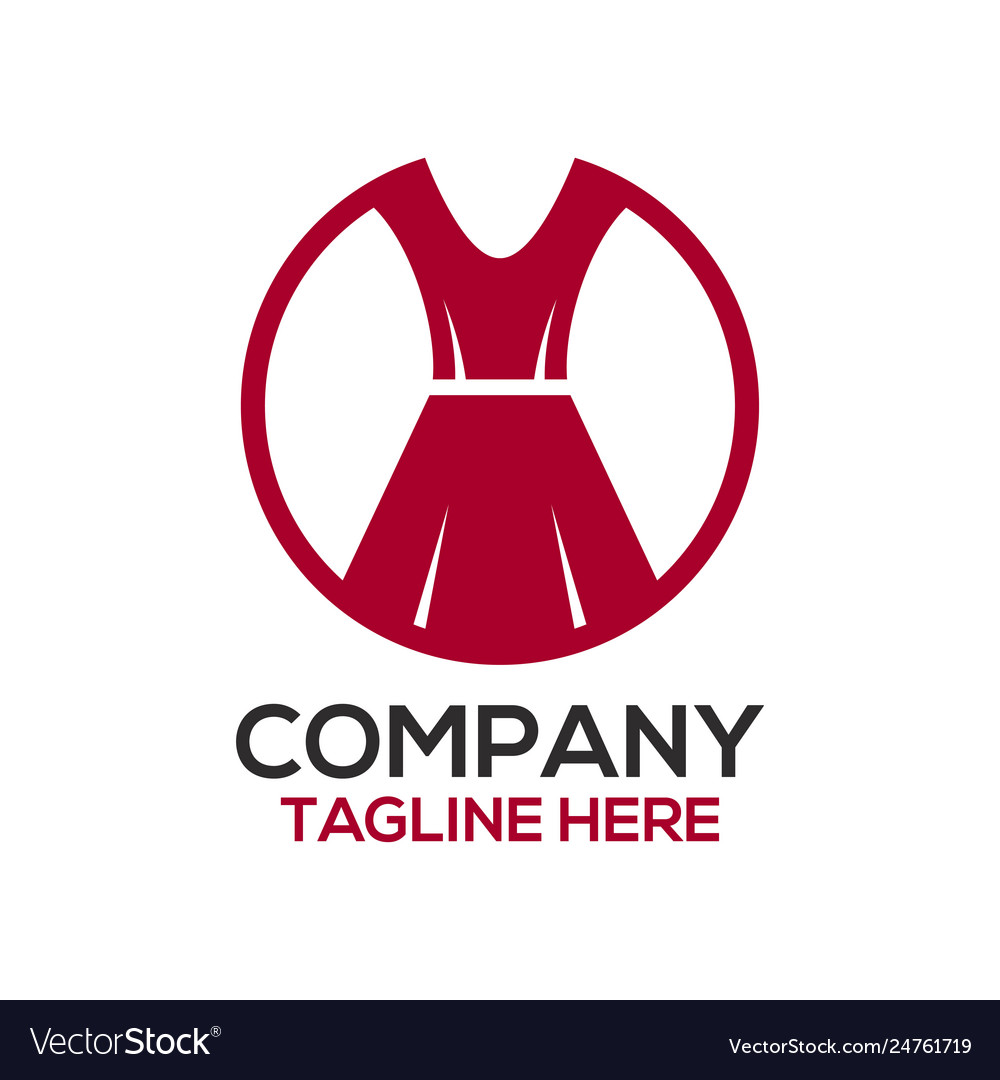 Fashion And Dress Design Logo Royalty Free Vector Image
