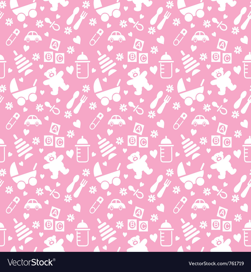 seamless baby background royalty free vector image