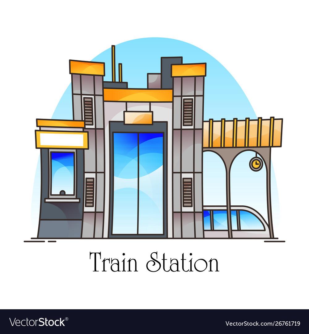 Train station or railway railroad platform