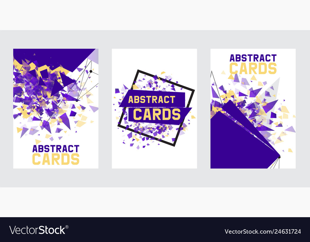 Abstract collection of banners cards posters