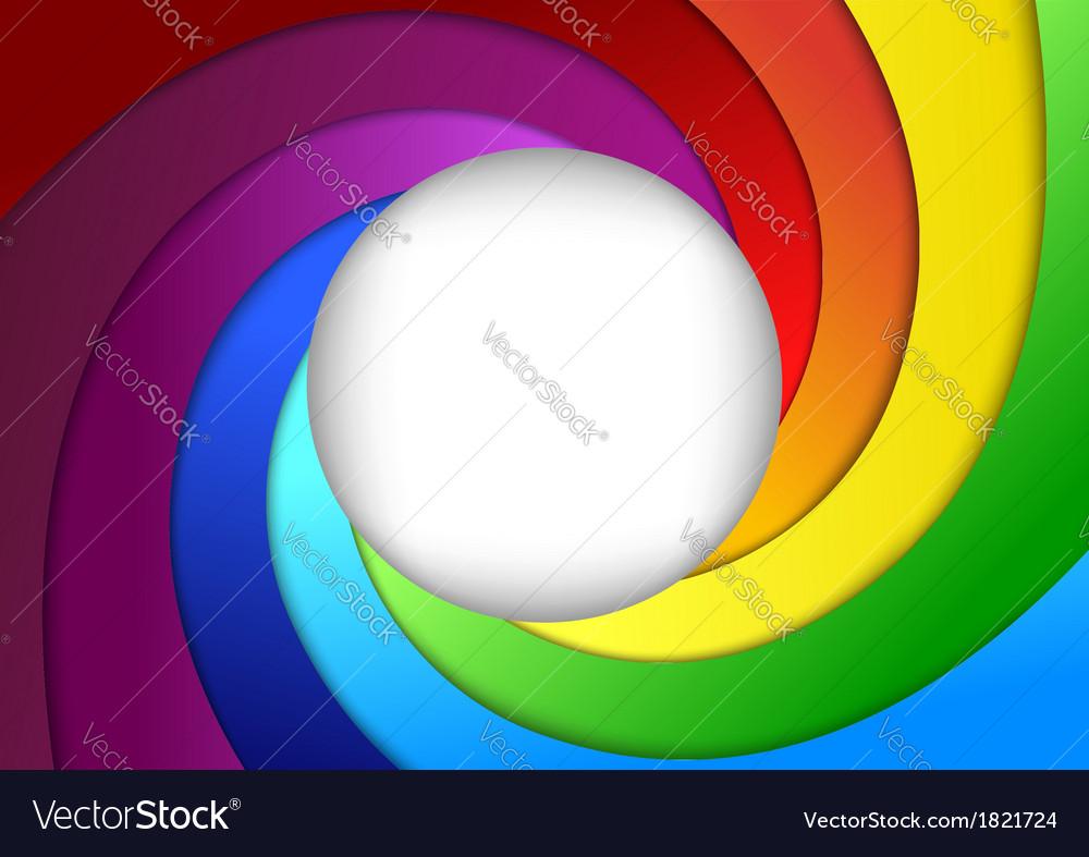 Bright rainbow background - focus