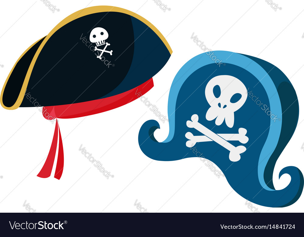 Cartoon pirate hats with a