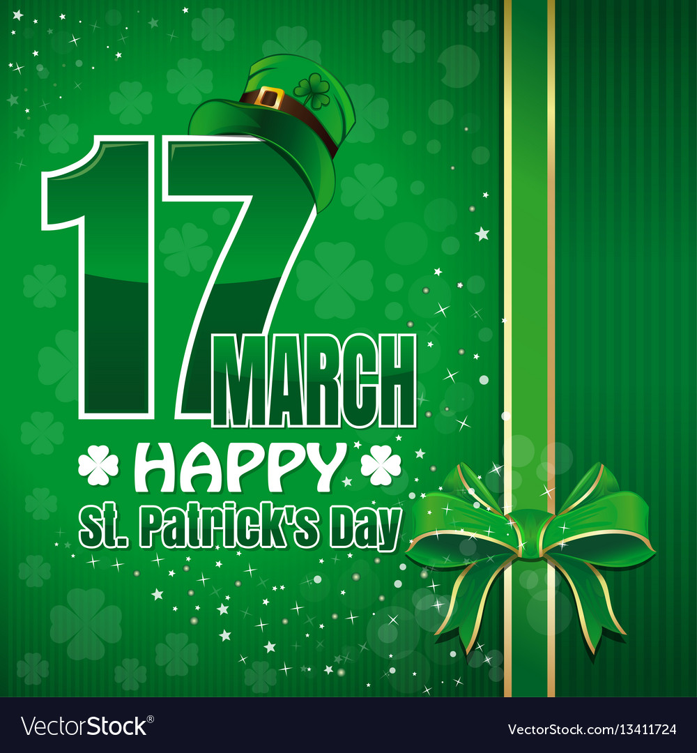 Festive green background to st patricks day
