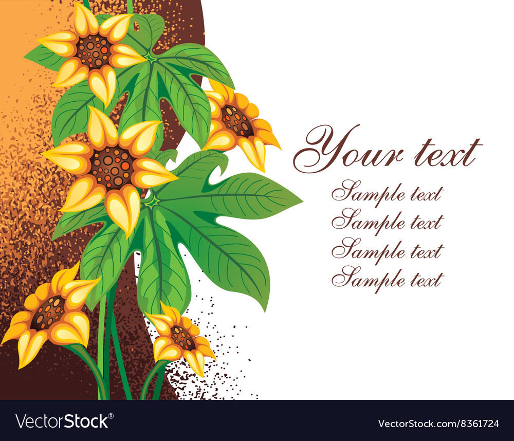 Floral Background with Text Space