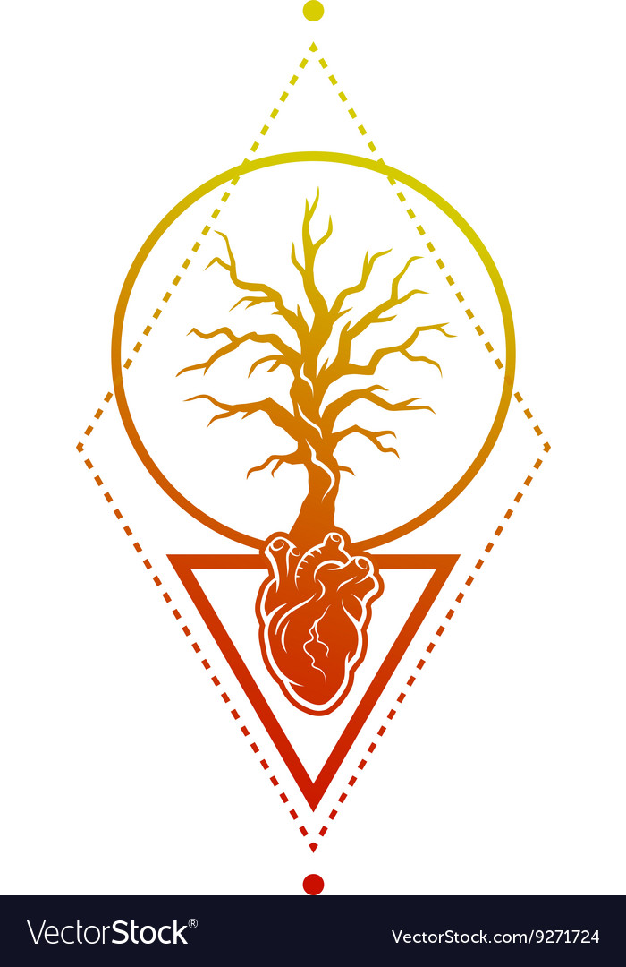 Heart Of The Tree As A Symbol Of Life Royalty Free Vector