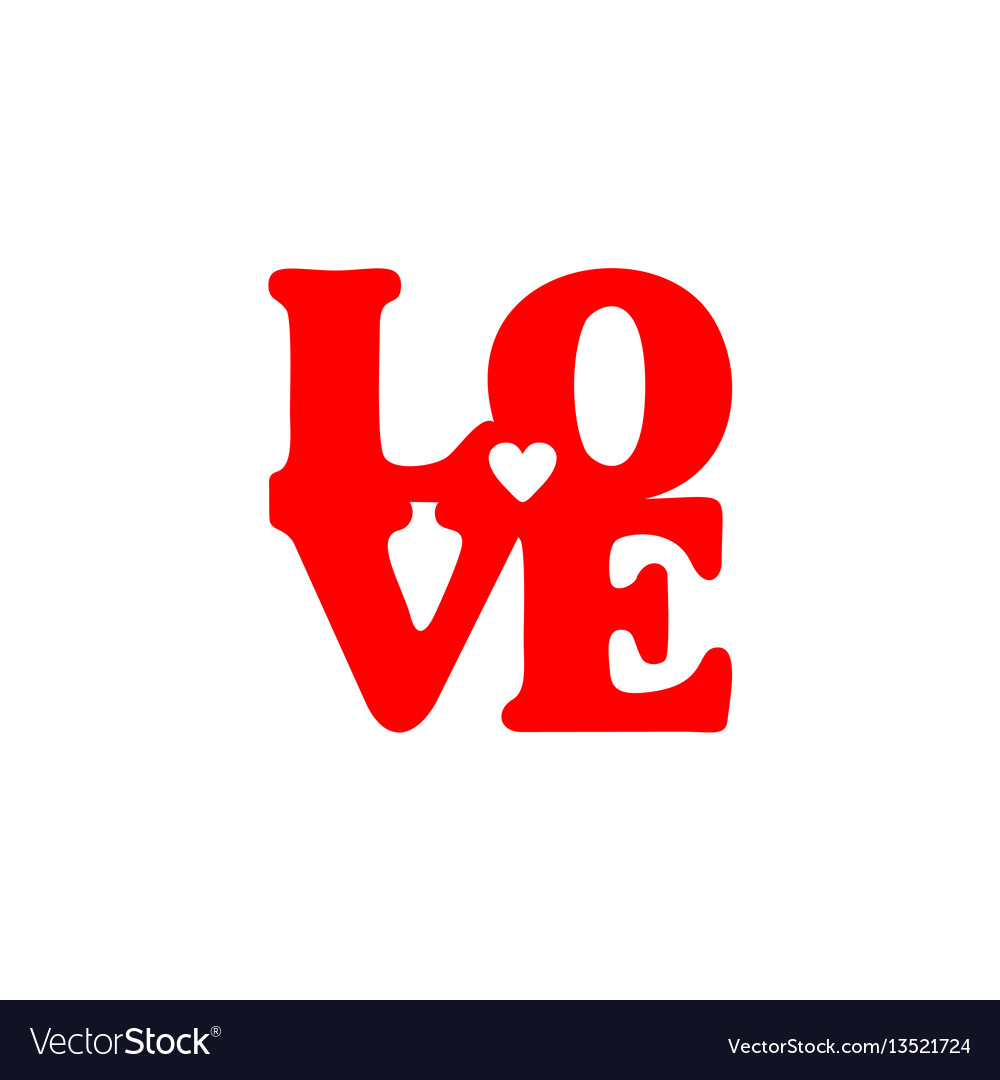 Love Lettering Saint Valentines Day Royalty Free Vector