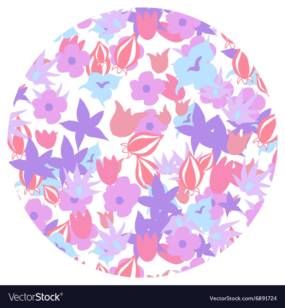 Pretty Floral Pattern Summer Flowers Royalty Free Vector