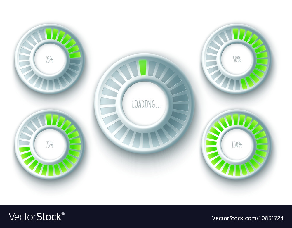 Set of Preloaders vector image