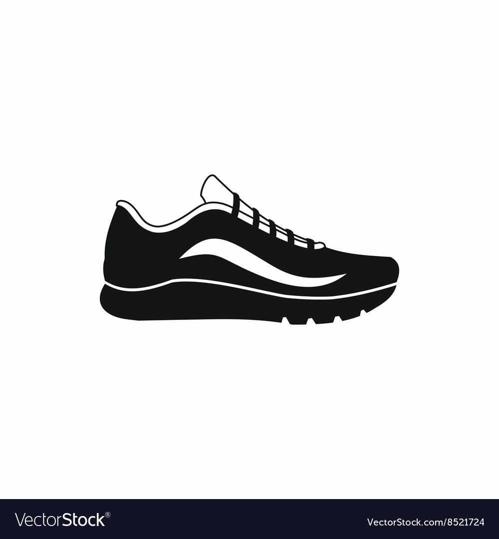 Sport shoes icon simple style vector image
