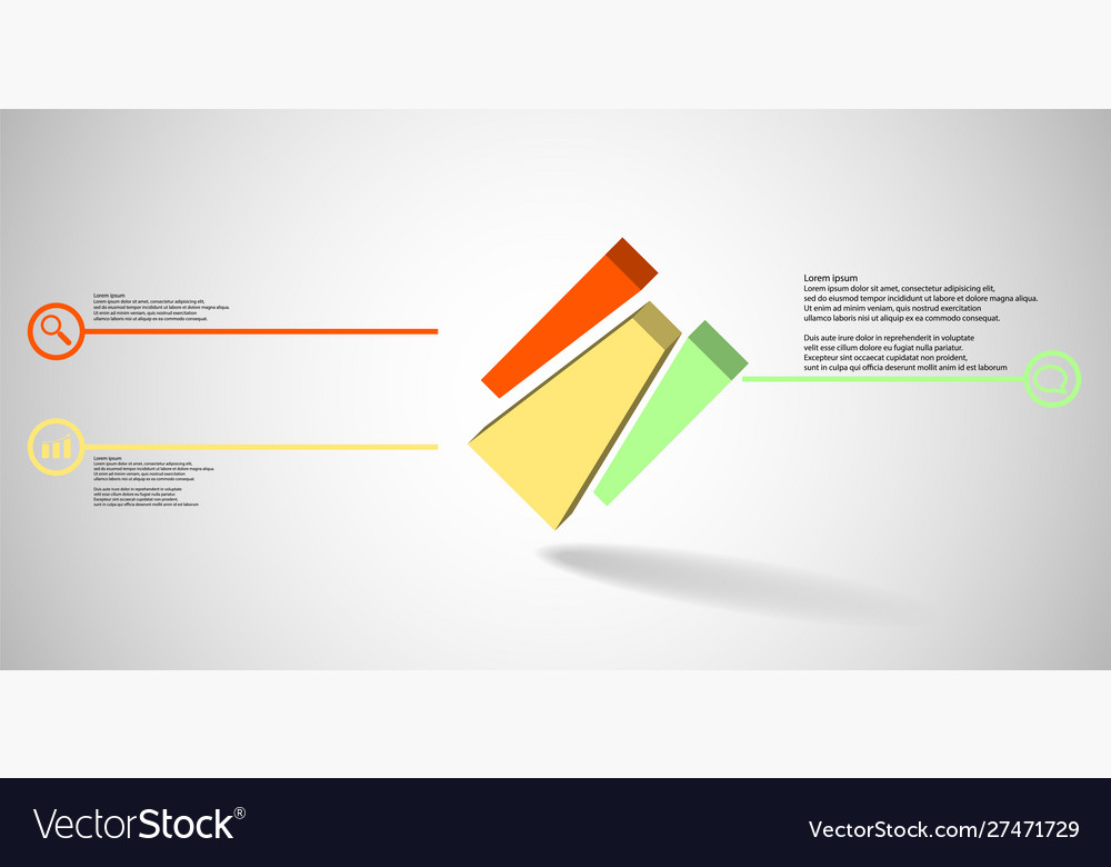 3d infographic template with embossed cube
